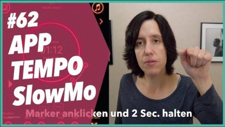 #62 Vorstellung: App Tempo SlowMo – MP3 Tempo ändern