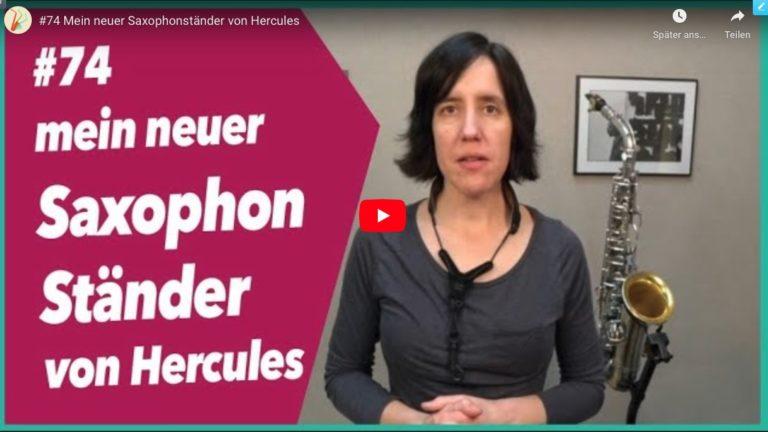 Read more about the article #74 Neuer Saxophonständer von Hercules